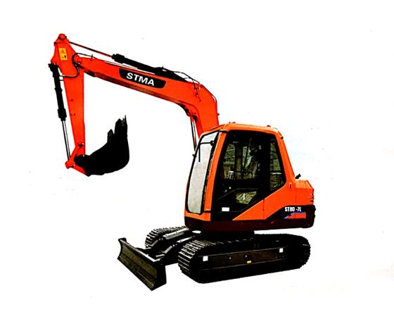 组装斗山挖掘机